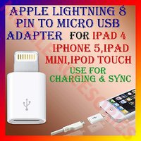 APPLE LIGHTNING 8 PIN To MICRO USB ADAPTER SYNC CHARGE For IPHONE 5,IPAD MINI,4 [CLONE] - 4412356