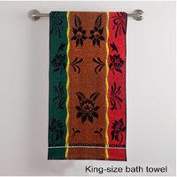 Deal Wala 1 Piece Of Multi Color Bath Towel - Hh26