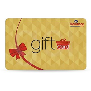Reliance Gift Card (Redeemable at all Reliance Formats)  worth Rs. 1000