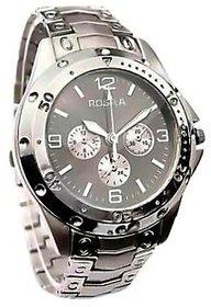 Rosra Round Dial Silver Metal Strap Mens Quartz Watch  by  miss