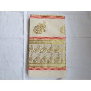Traditional Indian Kerala Kasavu Sarees  Item code SP1060