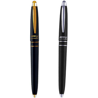 ADD GEL Combo Offer Pack Of 2 Pen Gold Diamond - Sliver Diamond Gel Roller Pen - Black Set of 3