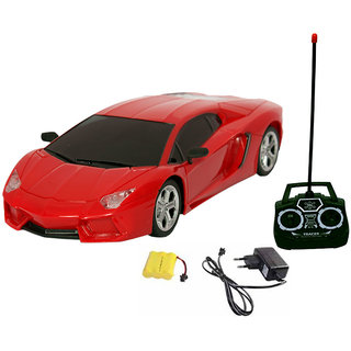 Fantasy India Rechargeable Remote Control Toy Car (124)   (Red/Yellow/