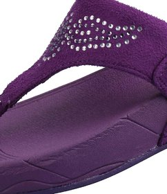 Cyke Women's Purple Flip Flops