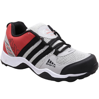 Look Hook Aerofax Men Gray Lace-up Training Shoes