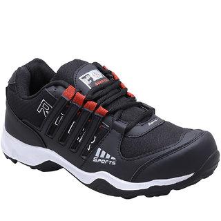 Look  Hook Aerofax Men Black Lace-up Running Shoes