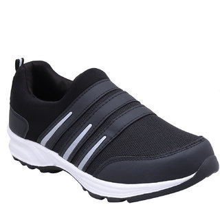 Look Hook Jaisco Men Black Lace-up Training Shoes