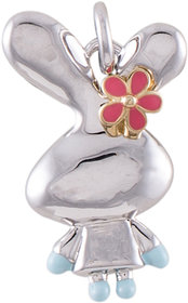 Lil Ballerina Sterling Silver Silver Lil Bunny Pendant For Girl
