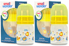 Small Wonder BPA Free Admire Baby Feeding Bottle - 60 ml - Pack of 2