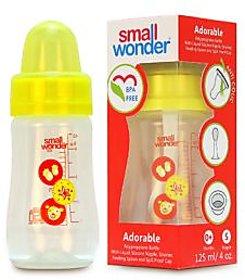 Small Wonder BPA Free Adorable Baby Feeding Bottle  125 ml