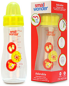 Small Wonder BPA Free Adorable Baby Feeding Bottle  250 ml