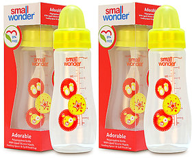 Small Wonder BPA Free Adorable Baby Feeding Bottle - 250 ml - Pack of 2