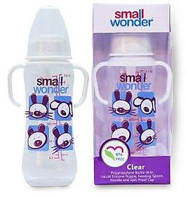 Small Wonder BPA Free Clear Baby Feeding Bottle - 250 ml