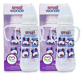 Small Wonder BPA Free Clear Baby Feeding Bottle - 250 ml - Pack of 2