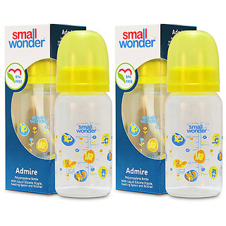 Small Wonder BPA Free Admire Baby Feeding Bottle - 125 ml - Pack of 2