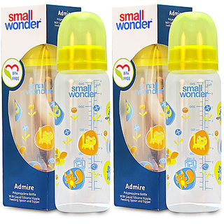 Small Wonder BPA Free Adre Baby Feeding Bottle - 250 ml - Pack of 2