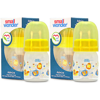 Small Wonder BPA Free Admire Baby Feeding Bottle  60 ml  Pack of 2