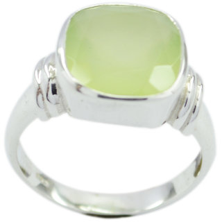Prehnite 925 Sterling Silver Ring  Green  Indian gift SRPRE-60014
