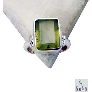 Prehnite 925 Sterling Silver Ring  Green  Indian gift SRPRE7-60005