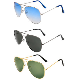 Zyaden Combo of 3 Sunglasses Aviator Sunglasses