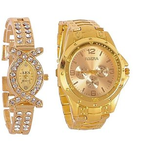 TRUE COLORS Combo of 2 Couple Watches