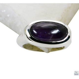 Amethyst 925 Sterling Silver Ring handsome Purple handmade  Indian gift SRAME7-2096