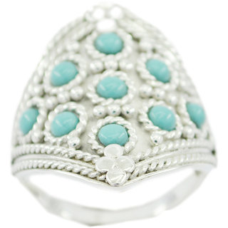 Turquoise 925 Sterling Silver Ring  Multicolor  Indian gift SRTUR-82318