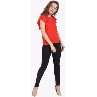 8e7debef6a0 Buy Soie Women's Red Plain Top Online @ ₹1190 from ShopClues