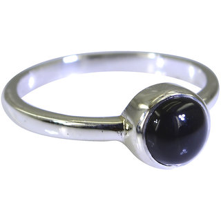 Black Onyx 925 Sterling Silver Ring angelic Black jewellery Indian gift SRBON60-6050