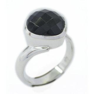Black Onyx 925 Sterling Silver Ring slightly Black supplies Indian gift SRBON-6330