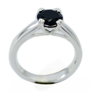 Black Onyx 925 Sterling Silver Ring fine Black supply Indian gift SRBON-6331