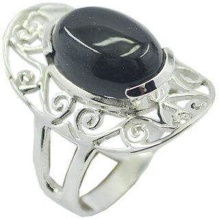 Black Onyx 925 Sterling Silver Ring winning Black jaipur Indian gift SRBON-6336
