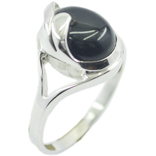 Black Onyx 925 Sterling Silver Ring wonderful Black india  Indian gift SRBON-6337