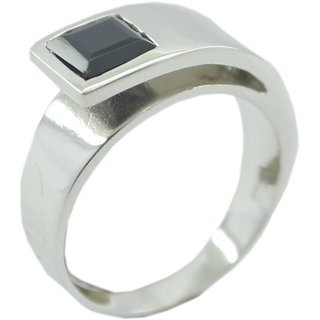 Black Onyx 925 Sterling Silver Ring cunning Black gemstone Indian gift SRBON-6341