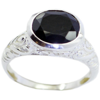 Black Onyx 925 Sterling Silver Ring statuesque Black exporter Indian gift SRBON-6344