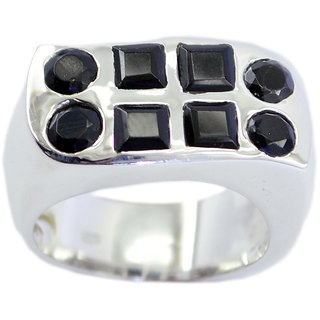 Black Onyx 925 Sterling Silver Ring perfect Black suppiler Indian gift SRBON-6345