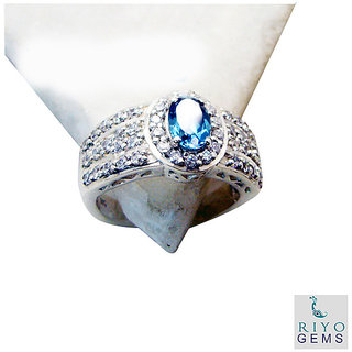 Blue Topaz 925 Sterling Silver Ring scenicbonny Blue handcrafted Indian gift SRBTO7-10048