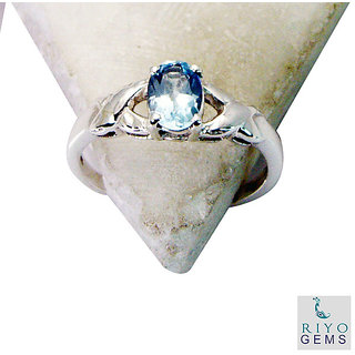 Blue Topaz 925 Sterling Silver Ring glorious Blue jewelry Indian gift SRBTO7-10053