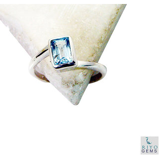 Blue Topaz 925 Sterling Silver Ring admirable Blue gemstone Indian gift SRBTO7-10054