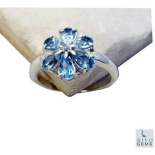 Blue Topaz 925 Sterling Silver Ring adorable Blue gemstones Indian gift SRBTO7-10056