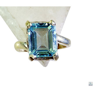 Blue Topaz 925 Sterling Silver Ring captivating Blue supply Indian gift SRBTO7-10061