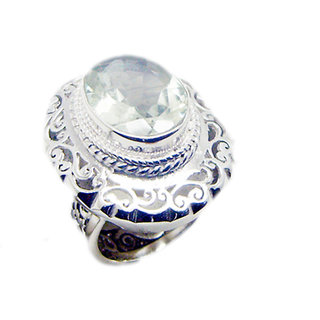 Green Amethyst 925 Sterling Silver Ring gorgeous Green supply Indian gift SRGAM-28317
