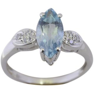 Blue Topaz 925 Sterling Silver Ring pretty Blue handcrafted Indian gift SRBTO80-10249