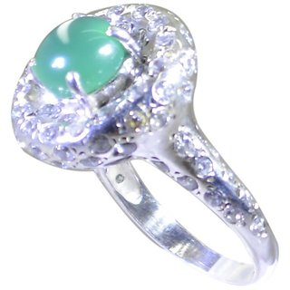 Green Onyx 925 Sterling Silver Ring classy Green india  Indian gift SRGON90-30011