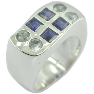 Multi Stone 925 Sterling Silver Ring  Multicolor  Indian gift SRMUL-53264
