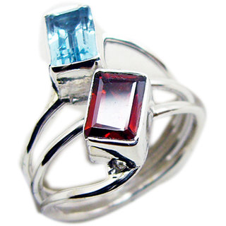 Multi Stone 925 Sterling Silver Ring captivating Multicolor supply Indian gift SRMUL-53057