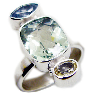 Multi Stone 925 Sterling Silver Ring  Multicolor  Indian gift SRMUL-53159