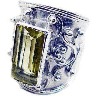 Lemon Quartz 925 Sterling Silver Ring delicate Yellow exporter Indian gift SRLQU-46312
