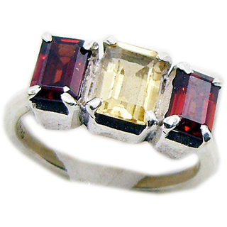 Multi Stone 925 Sterling Silver Ring  Multicolor  Indian gift SRMUL-53214