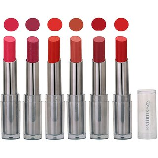 Rythmx  Lipstick  Color Show Creamy Matte  4 gm Pack of 6